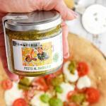 Pizza Integrale con Pesto di Basilico